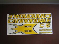 Cannondale Stickers  Set Yellow, Black & Silver.