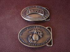 U.S. MARINE CORPS - SNIPER BELT BUCKLE -  2nd Buckle U.S. MARINE CORPS COMBAT