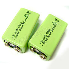 2 x 9V 9 Volt 400mAh Ni-Mh rechargeable battery PP3 G