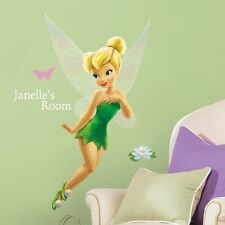 "TINKERBELL Disney Fairy wall stickers 120 decal 30"" MURAL PERSONALIZE room decor"