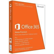 Microsoft Office 365 Home Premium 5 PCs or 5 MACs 1 year GENUINE