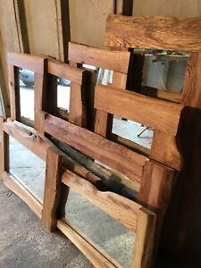 MADE TO ORDER - 60cm X 110cm Large Handmade Oak Wooden Mirror Frame.