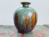 Vintage American Studio Pottery Drip Glaze Vase Style of Polia & William Pillin