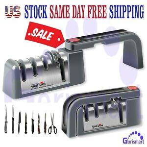KNIFE Sharpener PROFESSIONAL System Scissors Foldable Diamond Tungsten Tool