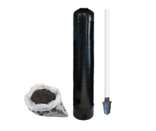 """Replacement Water Filter Tank + 1 cu ft Activated Carbon GAC & Riser Tube 9""""x48"""""""