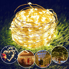 10/20M LED Solar String Lights Waterproof Copper Wire Fairy Outdoor Garden Party
