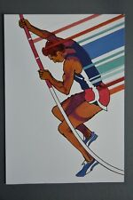 R&L Postcard: 1984 Los Angeles Olympics, Robert Peak, Pole Vaulting