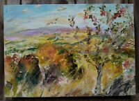 Autumnal Landscape, Rowan Wensleydale.OIL PAINTING CANVA.yorkshire dales.Signed.