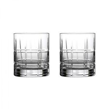 Waterford Crystal Cluin Double Old Fashioned Glasses – Set of Two – New