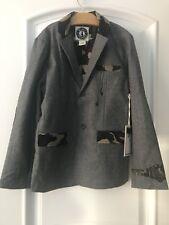 Mini Shatsu Boys Nwt Camouflage Wool Blend Blazer Jacket Size XXL 10-11