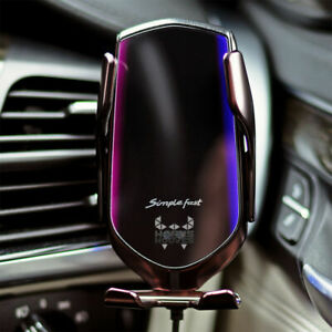 New Smart Sensor Wireless Car Charger R2 Simple Fast Automatic QI Phone Holder