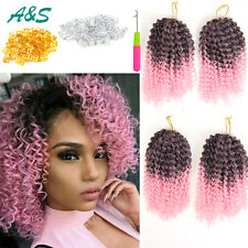 6 Pieces 4Full Head Crotchet 8inch Afro Kinky Synthetic Malibob Crochet Braids