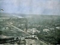 1908 Washington DC from Monument Aerial Vintage Photo Dry Plate Glass Negative