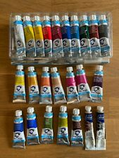 24 Used Van Gogh / Winsor Newton Cotman Watercolor Tubes with Folding Palette