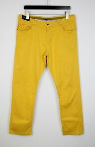 PAUL & SHARK YACHTING SOFT TOUCH STRETCH Men's USA 38 Yellow Trousers 39588_GS