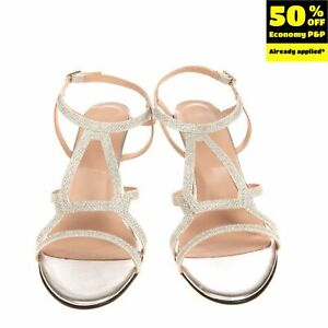 LOLLIPOPS Strappy Sandals Size 40 UK 7 US 10 High Heel Textured Made in Italy
