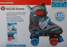 Schwinn Adjustable Fit Roller Skates Flashing LED Straps ~ Youth 1/2/3/4