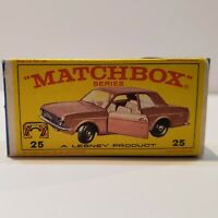 MATCHBOX Lesney Fred Bronner #25 FORD CORTINA ORIGINAL Vintage Box NM+++!!!