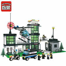 NEW ENLIGHTEN  Police Command Centre Helicopter Building Blocks Minifigures Toys