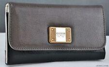 Porte-monnaie et portefeuilles noir en cuir verni pour femme