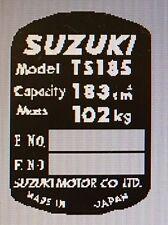 SUZUKI TS185 HEADSTOCK FRAME RESTORATION DECAL
