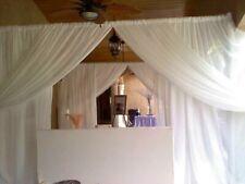 "Wedding Sheer Backdrop drape 8'x114"" White Ivory Fuchsia Black Royal Gold"