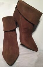 SCHUTZ Women's Ankle Boots Brown Suede Heel Point Toe US 8/EUR 40 Brazil