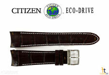 Citizen Eco-Drive AT0550-11X 22mm Brown Leather Watch Band Strap H500M-S049628