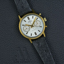 BWC Swiss 18k Gold 750 MINT Handwound LANDERON Chronograph 35mm vintage watch
