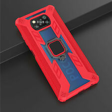For Xiaomi POCO X3 NFC Luxury Shockproof Hybrid Armor Magnetic Ring Case Cover