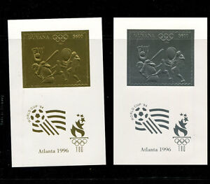 Guyana(1993) 1996 Atlanta Olympics Michel 4294-99var RARE PERF  DELUXE SHEETS