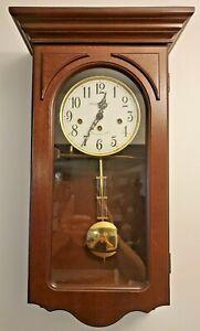 Howard Miller 620-445 (620445) Jennelle Wall Clock - Windsor Cherry