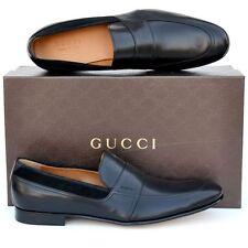 GUCCI New sz UK 11.5 - US 12.5 Mens Designer Leather Dress Loafers Shoes Black