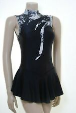 Skating Dress - Black Lycra / Grey, White Multi Hologram N/S All Sizes Available
