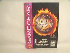 NBA Jam T.E. - Game Gear Manual Only!