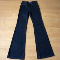 "GUESS Ladies Flare Stretchy Blue Jeans Size Waist 26"" Leg 32"""