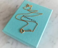 New! Tiffany & Co 18ct Rose Gold Key Necklace