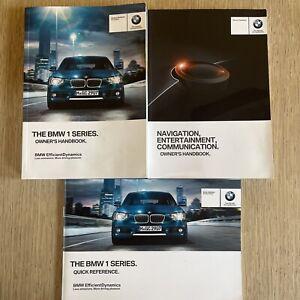 BMW 1 SERIES OWNER MANUAL HANDBOOK NAVIGATION BOOK GENUINE BMW 1 SERIES
