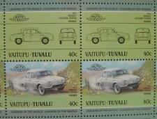 1957 RENAULT IKA DAUPHINE GORDINI Car 50-Stamp Sheet / Leaders of the World