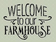 STENCIL Welcome to our Farmhouse  10x7.5