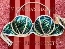 L Large A-C VICTORIAS SECRET VS PINK Swim Push-Up Padded Bandeau Bikini Top Palm