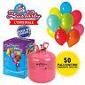 Bombola Elio GAS per palloncini usa e getta per gonfiare 50 PALLONCINI OMAGGIO