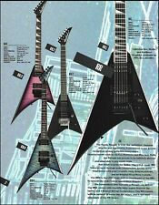 Jackson Randy Rhoads Signature RR Series guitars ad 8 x 11 advertisement / specs