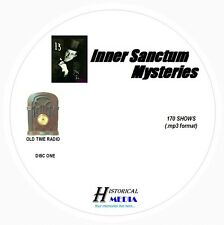 INNER SANCTUM MYSTERIES - 170 Shows Old Time Radio In MP3 Format OTR 2 CDs