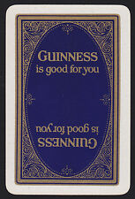 1 Single VINTAGE Swap/Playing Card GUINNESS BLUE GOLD Reversible Beer/Brewery