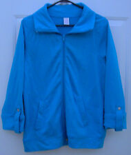⭐On Sale⭐BOBBIE BROOKS Women's 3/4 Sleeve Jogging Jacket AQUA Size M 8-10