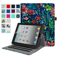Smart Folio Case Stand Cover with Pocket For Apple iPad 2,iPad 3 & iPad 4th Gen