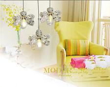 1x Crystal Fairy Chandelier Lighting Fixtures Ceiling Lamp Pendant Flower Light