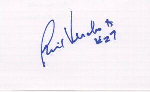 Phil Verchota - Miracle on Ice, U.S. Olympic Hockey Team - Signed 3x5 Card