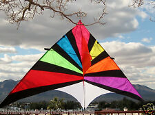 "Delta Kite Rainbow single line Huge 108 x 55"" + Line + Carry Bag Included"